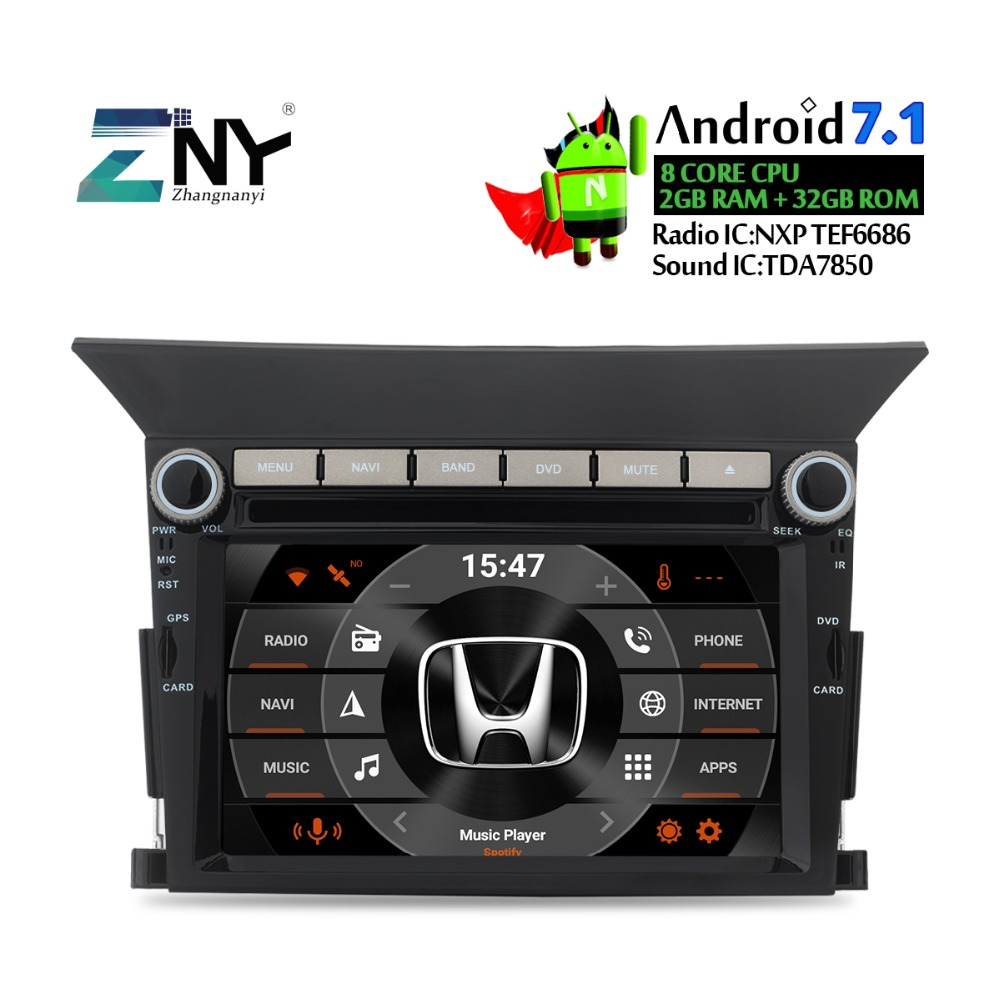 2018 Brand New Android Car DVD For Pilot 2009 2010 2011 2012 2013 Auto PC Stereo Radio FM WiFi GPS Glonass Navigation TDA7850