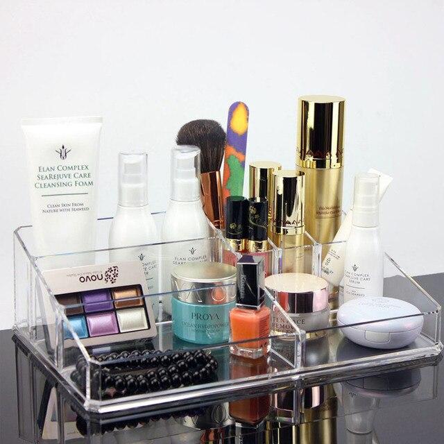 Acrilico Surdimensionné Pour Le Maquillage Boîte En Plastique Transparent  Organisateur De Maquillage Salle De Bain Boîte