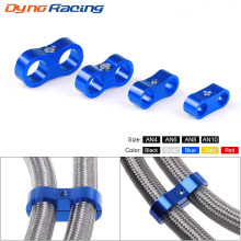 AN4 AN6 AN8 AN10 Braided Rubber Hose Line Clamp Aluminum Anodized Line Separator Separator Divider Clamp Kit Black Blue
