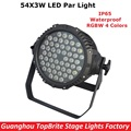Fast Shipping High Quality LED Par 54X3W RGBW 4 Colors Led Stage Light 180W Waterproof LED Flat Par Cans With DMX512 110-240V