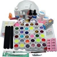 SUN9C PLUS Nail Sets 36W Led White Lamp UV GEL polish with 36 Color UV Gel Nail Art Tools Set Kit 14ML Top coat & Base coat
