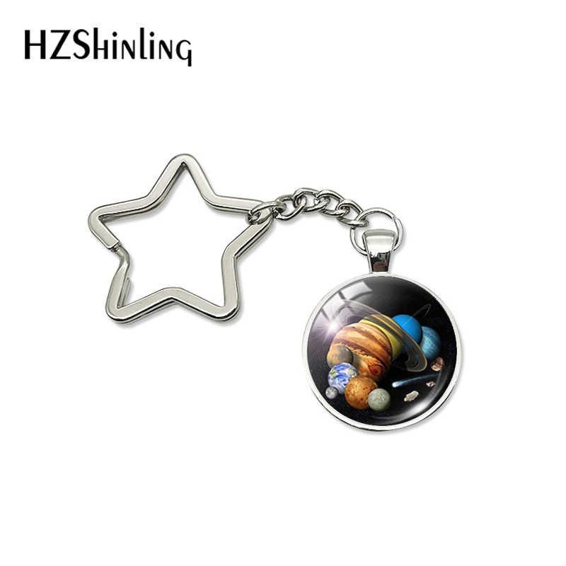 2019 nova moda mercúrio galáxia universo espaço estrela chaveiro para o homem mulheres presentes chaveiro chaveiro titular chave fob jóias