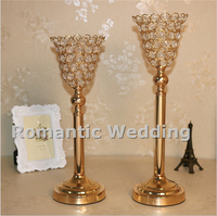 Free Shipment 10PCS Lots Crystal Candle Holder Flower Vase Centerpiece For Wedding Decorations Event Products Party