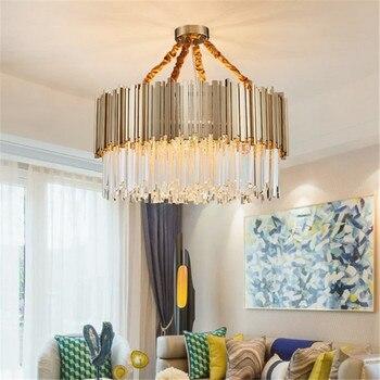 Postmodern lüks sanat tavan lambası altın Metal cam çubuk asma kolye uydurma oturma odası yatak odası restoran aydınlatması