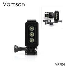 Vamson for Gopro Hero 6 5 4 3 Diving FlashLight Lamp Underwater Waterproof LED Mount for SJCAM for Xiaomi YI for Eken VP704