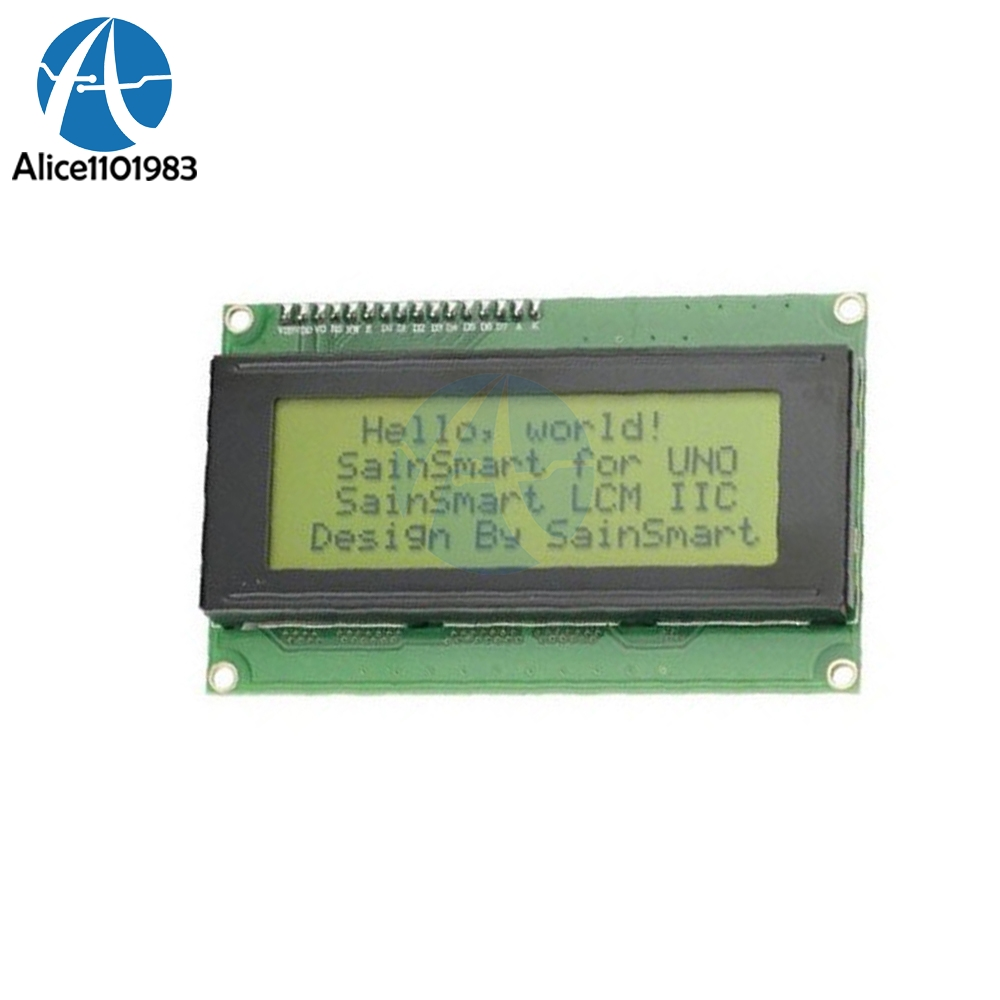 New 2004 204 20X4 Character Low-power LCD Display Module Interfaced With MCU Yellow Backlight