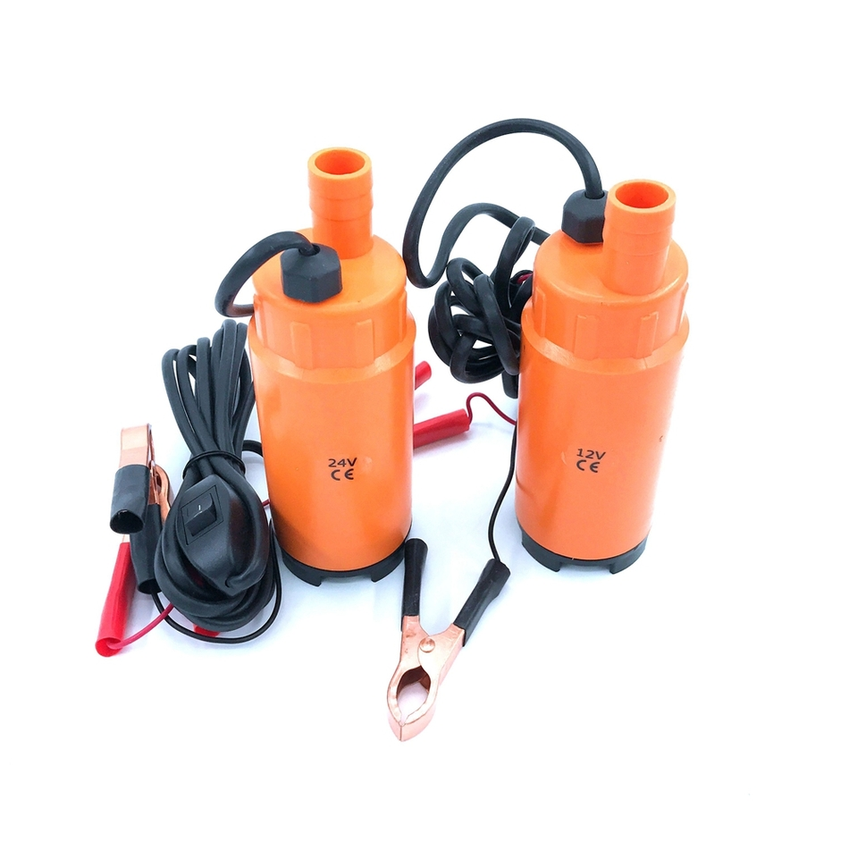 Submersible Diesel Fuel Water Oil Pump Diameter 51MM Plastic DC 12V 24V 30L Min 60W Car