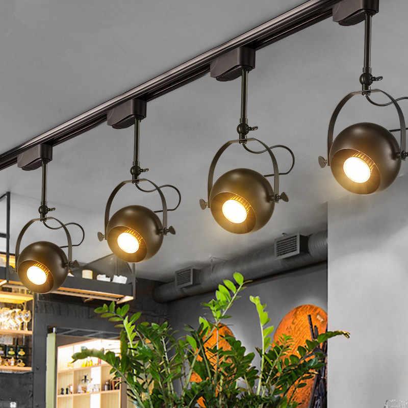modern track lights led ceiling lamp rail track lighting rotated spotlights indoor windows showrooms home lighting fixtures