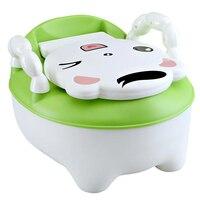 Children Potty Toilet Bowl Training Seat Portable Cows Toilet Bowl Pot Comfortable Backrest Potty Seat Portable Urinal For Child