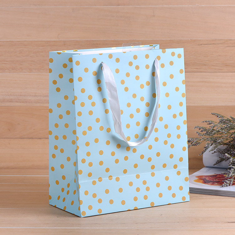 25*33*8cm  kraft paper gift bag Festival Paper bag with handles Fashionable jewellery bags wedding birthday party