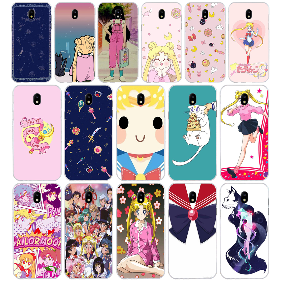 Diligent 220sd Fashion Cartoon Sailor Moon Soft Silicone Tpu Cover Phone Case For Samsung J3 J5 J7 2015 16 17 J2 J4 Prime J6 Plus 2018 Soft And Antislippery Phone Bags & Cases