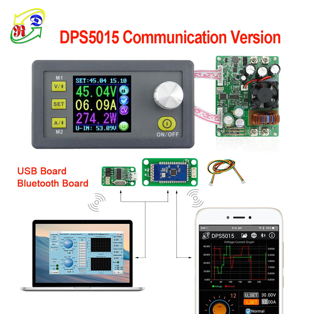 RD DPS5015 communication Constant Voltage current DC Step down Power Supply module buck Voltage converter LCD