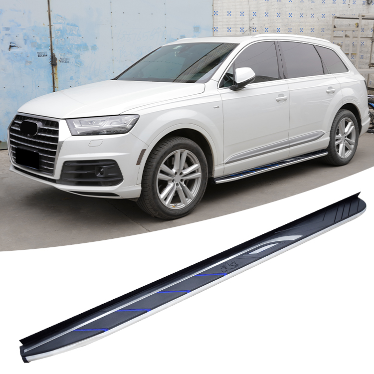 New design Aluminium Fit for Audi Q7 2016 2017 2018 2019 2020 running board side step nerf bar|Pedals| |  - title=