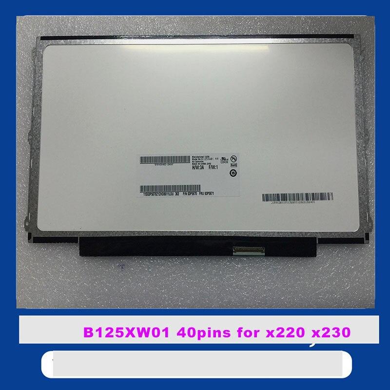 все цены на New original ThinkPad X220 x220i LED FRU: 93P5671 93P5670 B125XW01 V.0 LP125WH2 TLE1 LTN125AT01 LP125WH2 TLB1 онлайн