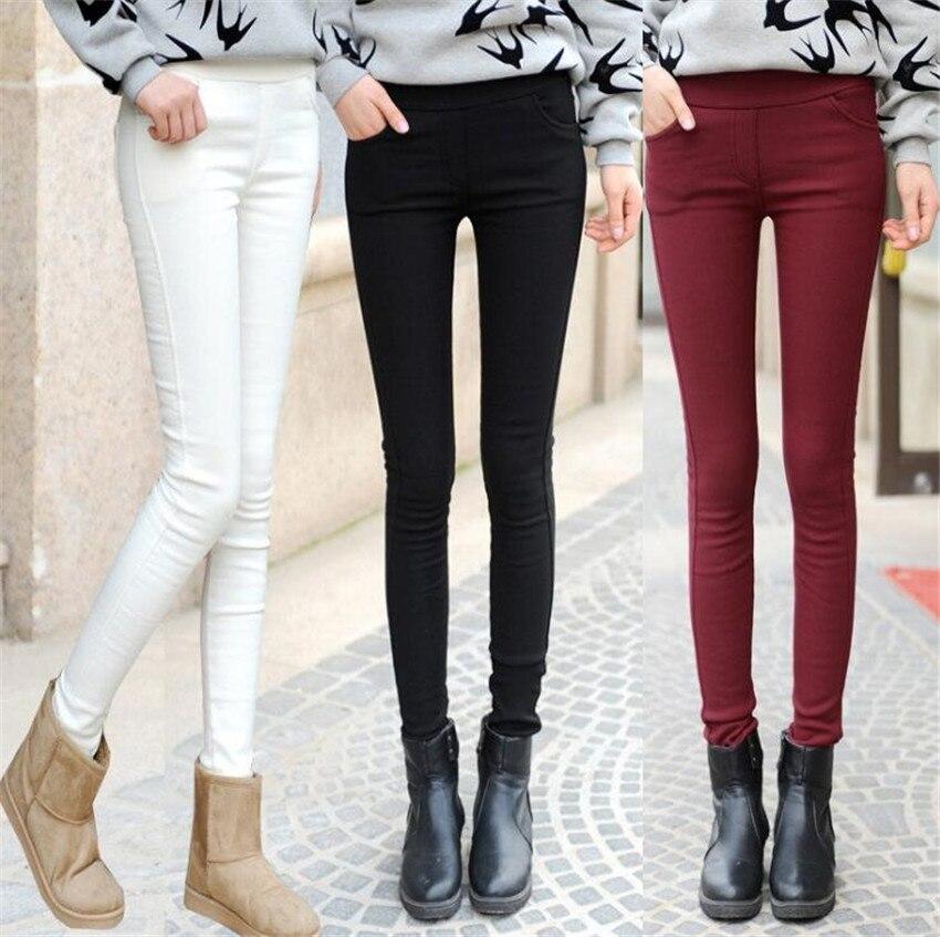 KMUYSL 2018 New Korean Style Skilled pencil pants velvet skinny High waist trousers