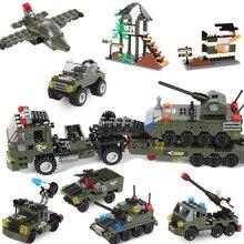Militär Gebäude Block Montage 8 in 1 Junge Aircraft Tank Explosion proof Spezielle Polizei Gepanzerte Auto Marine corps Junge Spielzeug