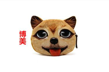 M104 Cute Meow Star Dog Buckle Plush Puppy Kitten GIRLS PURSE 3D Simulation Small Wallet Women Girl Student Gift Wholesale mysterious cartoon meow star cute cat cushion simulation decorative pillow