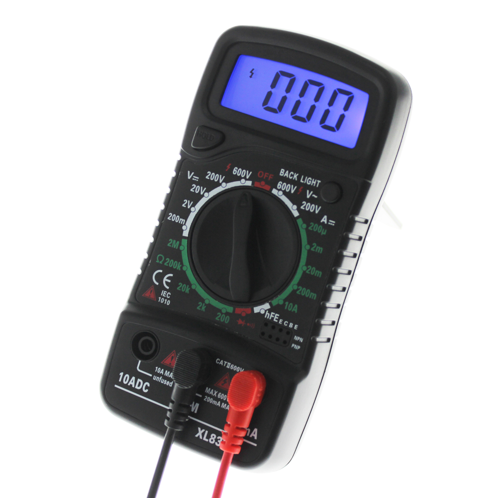 LCD Digital Multimeter Voltmeter Ammeter Ohmmeter OHM VOLT Tester Backlight Test Current Multimeter Electronic Instrument блендер philips погружной hr1627 00 белый красный hr1627 00