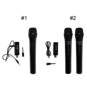 Image 5 - UHF USB 3.5mm 6.35mm Wireless Microphone Megaphone Handheld Mic with Receiver for Karaoke Speech Loudspeaker
