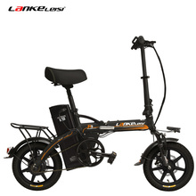 R9 Portable 14 Inches Folding Electric Bicycle, 48V 23.4Ah Strong Lithium Batter