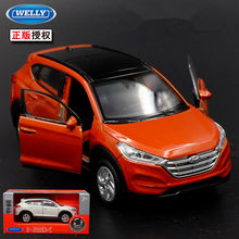 1pc 1:36 11.5cm delicacy WELLY HYUNDAI Tucson car pull back alloy model collection cool boy toy gift(China)
