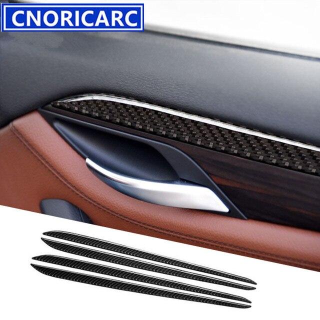 CNORICARC Carbon Fiber Styling Interior Door Panel Decorative Trim ...