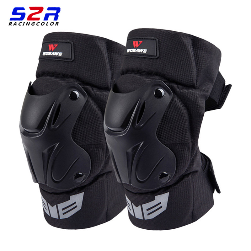 S2R Brand Motorcycle Knee Pads Racing PP Shell Knee Pads Protective Gear Off Road Moto Motocross Outdoor Sports Safety Protector