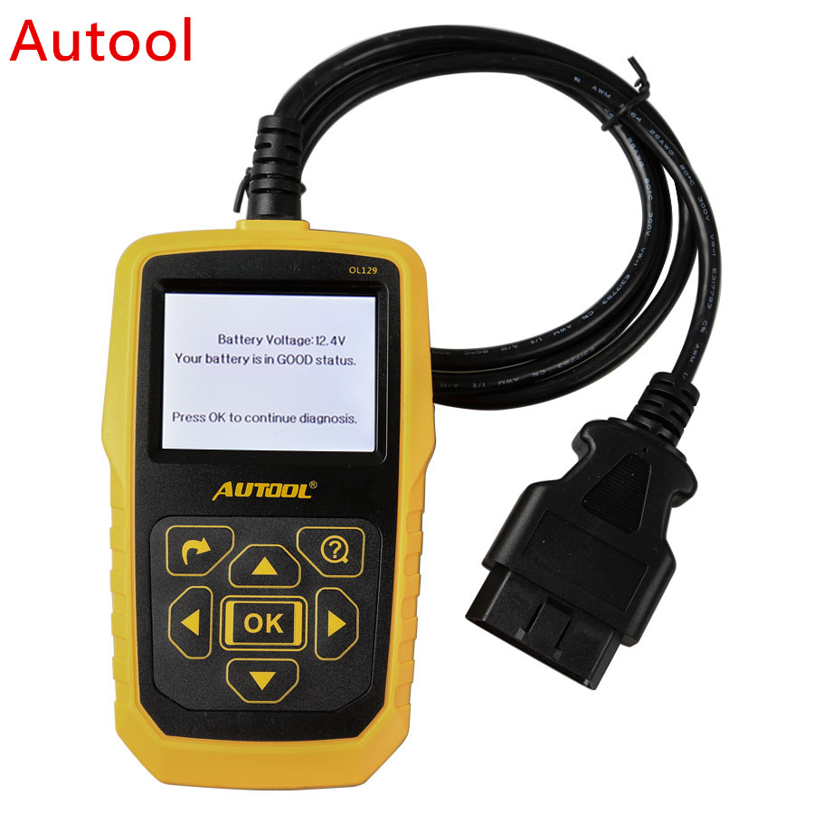 AUTOOL OL129 Battery Monitor And OBD/EOBD Code Reader Auto Engine Diagnostic Tool Auto Repair AUTOOL OL129 xtool iobd2 diagnostic tool for bmw for iphone ipad iobd2 code scanner by bluetooth support obdii eobd protocol car diagnose