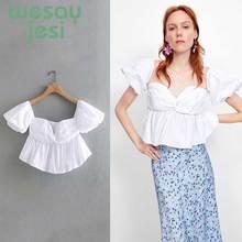 Women summer sexy white 2019 Short Sleeve V-neck Ruched Shirts Summer Tops design slash neck short sleeve shirt