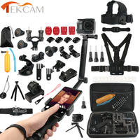 Tekcam Accessories Kits 3 way selfie grip arm for Go pro hero 6//5/4 hero session Gopro 6/4 SJCAM SJ6 SJ8 SJ8 Xiaomi yi 2 4k