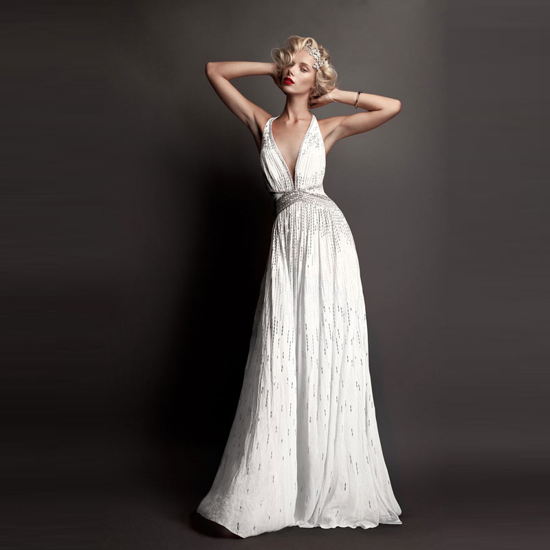 Online Buy Wholesale white sequin evening gown from China white ...