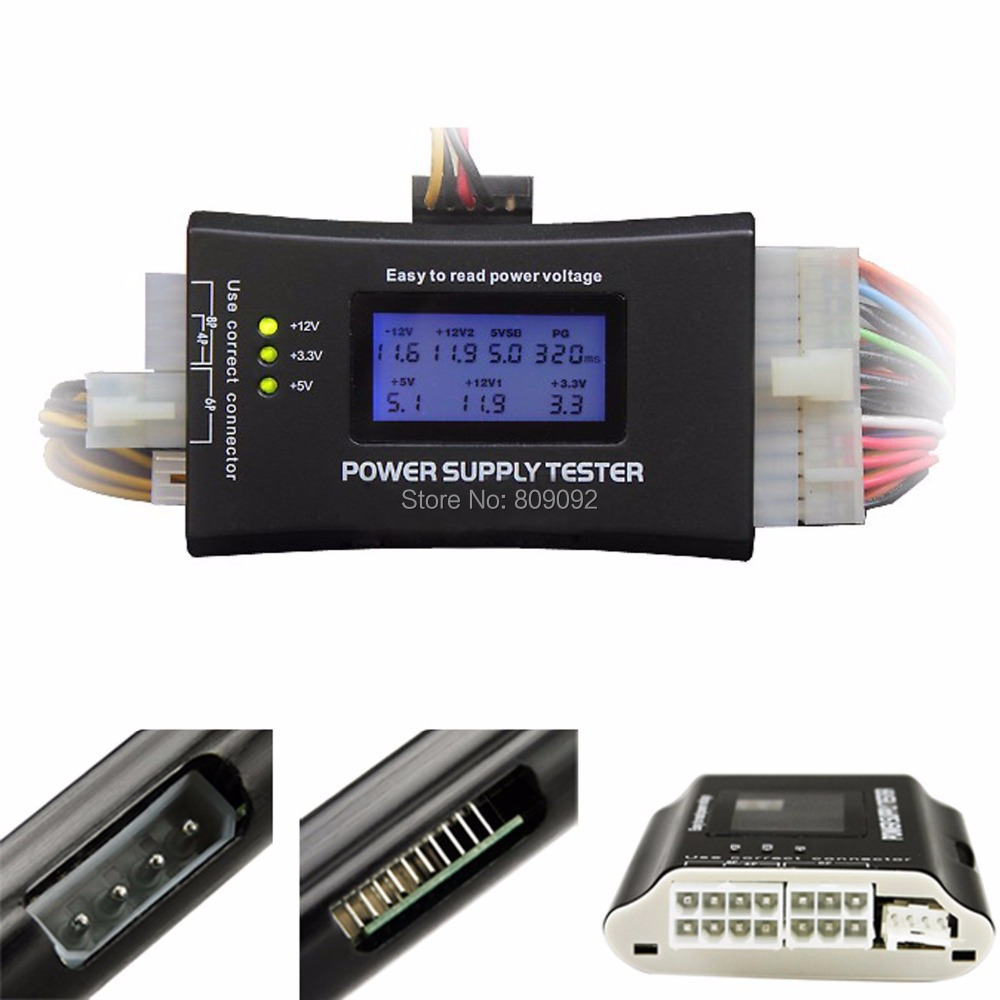 Pc Komputer Top Kualitas Lcd Display Layar 20 24 Pin Atx Kabel Data Sata Klip Siku Bwt Hardis Btx Itx Hdd Cdrom Digital Power Supply Tester Diagnostik