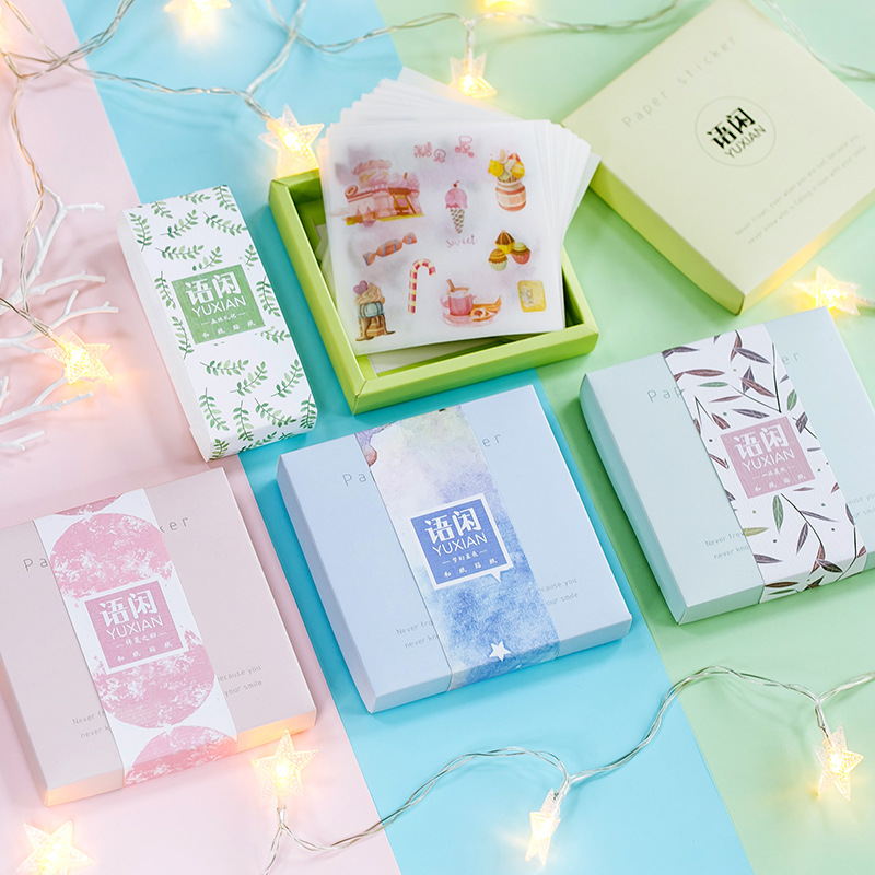 10sets 1lot Kawaii Stationery Stickers Collage Element Diary Planner Decorative Mobile Stickers Scrapbooking DIY Craft Stickers