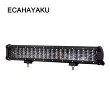 ECAHAYAKU 20 inch 252W 20 inch off road four rows led light bar 12V 24V Spot Flood Work Light for Jeep Car 4WD Truck 4x4 SUV ATV amber yellow white high power 4x4 car offroad 17 inch 18 inch 252w led light bar work light 12v 24v 24 months warranty