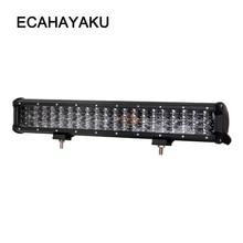 ECAHAYAKU 20 inch 252W off road four rows led light bar 12V 24V Spot Flood Work Light for Jeep Car 4WD Truck 4x4 SUV ATV