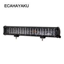 цена на ECAHAYAKU 20 inch 252W four rows led light bar 12V 24V Spot Flood beam offroad led bar for Jeep Car 4WD Truck 4x4 SUV ATV auto