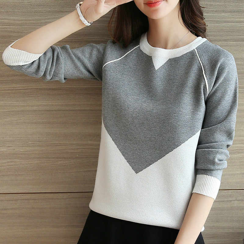 OHCLOTHING Korean version of the new spring dress turtleneck sweater long sleeved loose backing jacket sweater female students