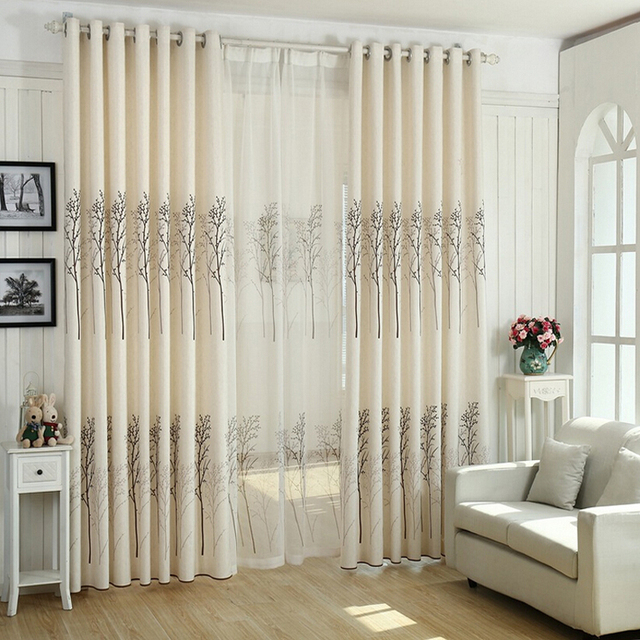 Shower Curtain In Living Room Furniture Table Sets Modern Birch Rustic Minimalist Black White Curtains Panel Bedroom Wp043 20