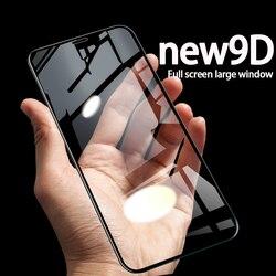 Verre trempé de protection 9D pour iPhone 7 iPhone 7plus iPhone 8 iPhone 8plus verre protecteur d'écran Full HD Blue-Ray
