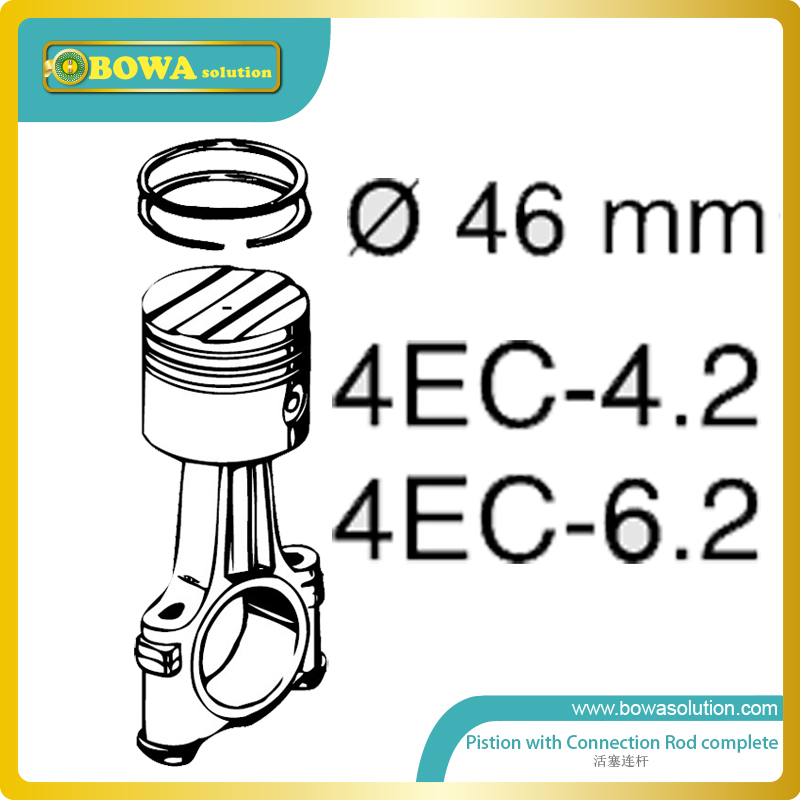 S4  small 4 cylinder Dia.46mm piston with connection rod complete for Bitzer compressor 4EC4.2 and 4EC6.2 m4 diameter 70mm piston with connectiong rod for 12hp and 20hp bitzer compressor excellent compressor spare parts