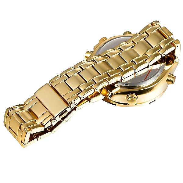 Image 5 - Military Watches Men Luxury Brand Full Steel Watch Sports Quartz Multi function LED Waterpoof Gold Wristwatch Relogio Masculinomasculinomasculinos relogiosmasculino watch -