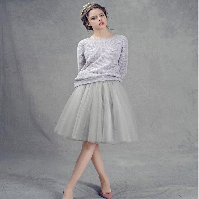 7 Layers Tulle Skirt American Apparel High Waist Tutu Skirts Womens Lolita Petticoat 2016 Summer Faldas Saia Jupe BSQ002B