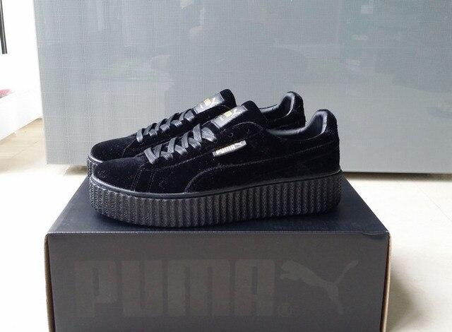 ... Бесплатная доставка Puma by Rihanna замшевые криперы Женская и мужская  обувь дышащая бадминтон обувь кроссовки e9df2c1793713e1 . ... af1fe73d0d091