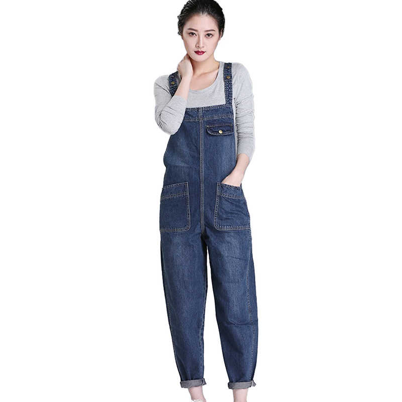 retail prices high quality materials separation shoes Denim Rompers Women 2019 Spring Summer Plus size 6XL Casual Bib Pants  Female Jumpsuits Jeans Trousers Strap can be adjusted H675