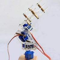 High Quality 4 DOF Robot Arm 3D Rotating Machine DIY Car Arm P0090 Servo Kit DiY Robot Smart Robot For RC Model