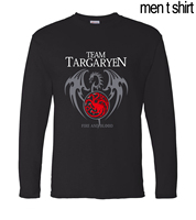 Game Of Thrones Targaryen Fire Blood Long Sleeve Men T Shirts 2017 Spring Summer 100 Cotton