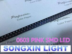 Image 3 - XIASONGXIN ışık 4000 adet SMD/SMT süper parlak yüzey montajı 0603 1608 ışık yayan diyot LED diyot LED 0603 pembe SMD LED