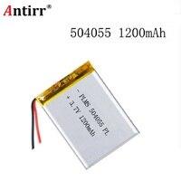 504055 3.7 v 1200 mah recarregável li polímero li ion bateria para mp3 mp4 mp5 telefone dvr gps power bank iptv lexand sa 5 054055 Baterias digitais    -