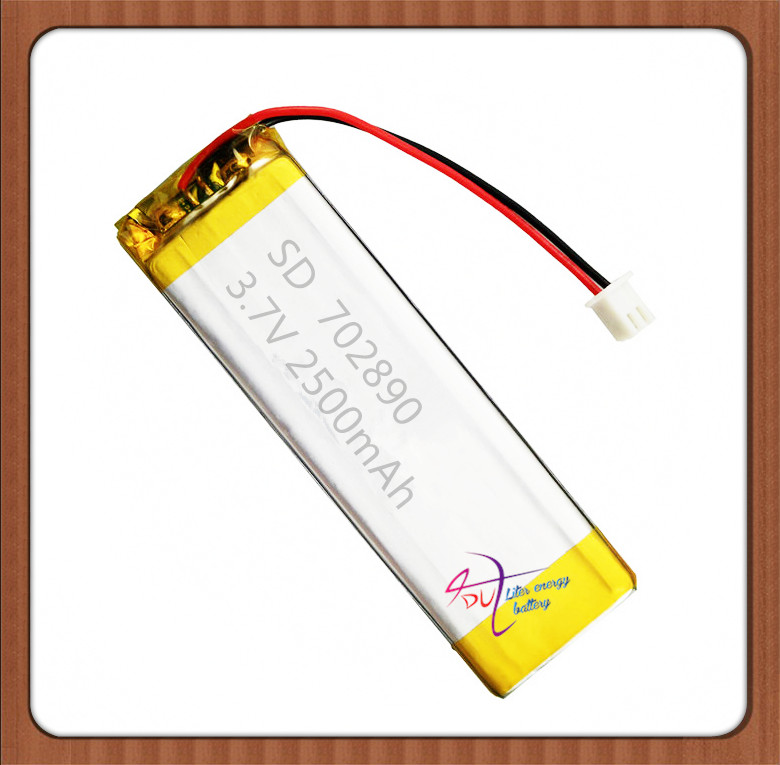 XHR-2P 2500mAh 352885*2 3.7V in core point reading machine learning story lithium polymer battery 702890