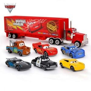 Image 3 - New 7 Piece / Set Disney Pixar Car 3 Lightning McQueen Jackson Storm Material Mack Uncle Truck 1:55 Die Casting Metal Car Model
